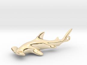 Hammerhead Pendant in 14k Gold Plated Brass