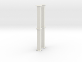 'HO Scale' - Bucket Elevator - 20' Casing in White Natural Versatile Plastic