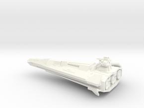 Centurion-class Battlecruiser in White Strong & Flexible Polished