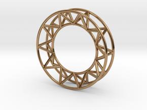 Mens Framework Ring in Polished Brass