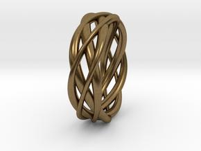 Mobius ring braid  in Natural Bronze: 8 / 56.75