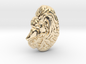 Anatomical Brain Pendant in 14K Yellow Gold