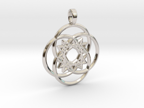 VESICA TETRAQUAD in Rhodium Plated