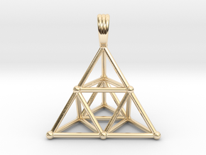 TETRAHEDRON (stage 2) PENDANT in 14K Yellow Gold