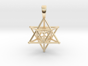 MERKABAH (pendant) in 14K Yellow Gold