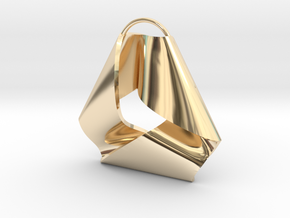 Mobius Triangle Charm (Small) in 14k Gold Plated Brass