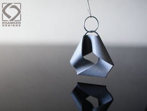 Mobius Triangle Pendant (Large) in Polished Metallic Plastic