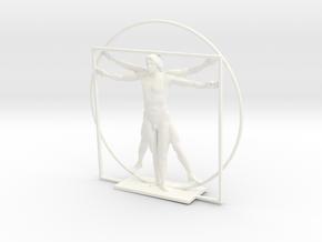 The Vitruvian Man - Antiques in White Processed Versatile Plastic