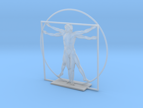 The Vitruvian Man - Antiques in Smooth Fine Detail Plastic