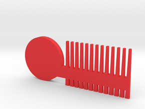 beard comb in Red Processed Versatile Plastic