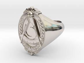District Deputy Jewel Ring in Platinum