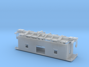 NAR 1952 CC&F Caboose HO Scale in Smooth Fine Detail Plastic