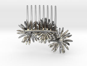 Daisy Comb in Polished Silver