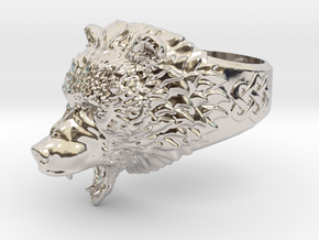 Roaring bear ring in Platinum: 6.5 / 52.75