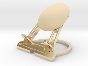 Infinity Smartphone Charging Stand by H Designs in 14K Yellow Gold