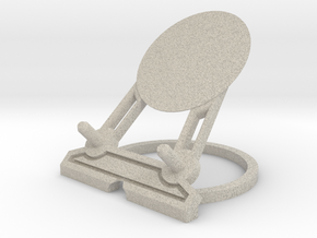 Infinity Smartphone Charging Stand by H Designs in Natural Sandstone