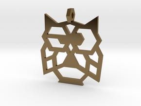 Earrings Little Owl in Polished Bronze