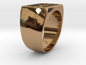 Ptym Ring in Polished Brass
