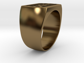 Ptym Ring in Polished Bronze