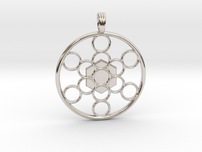 METATRON'S CUBE in Rhodium Plated