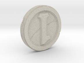 Hearthstone Coin Replica in Natural Sandstone