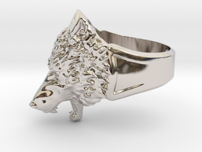 Wolf Head Ring in Platinum: 6.5 / 52.75