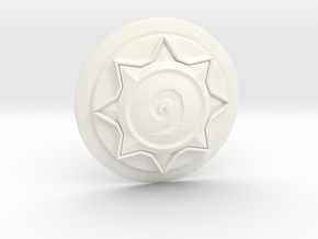 Hearthstone Logo Replica in White Processed Versatile Plastic