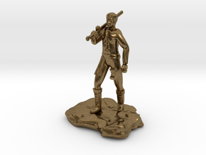 Half Orc Sorcerer With Sword And Hammer in Natural Bronze