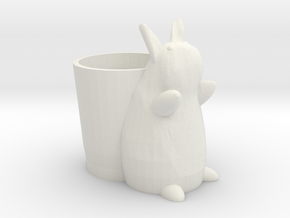 Bunny Cup in White Natural Versatile Plastic