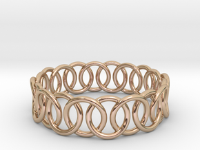Ring Bracelet 65 in 14k Rose Gold Plated Brass