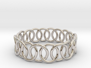 Ring Bracelet 68 in Rhodium Plated Brass