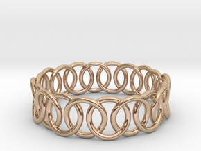 Ring Bracelet 70 in 14k Rose Gold Plated Brass