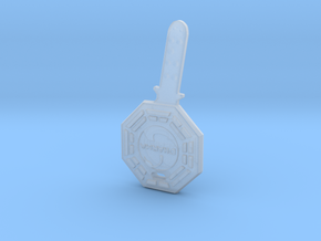 Lost Swan Station Fail-Safe Key Replica Prop in Smooth Fine Detail Plastic
