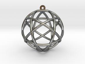 "Penta Sphere Pendant 1.5"" in Polished Silver"