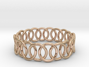 Ring Bracelet 78 in 14k Rose Gold Plated Brass