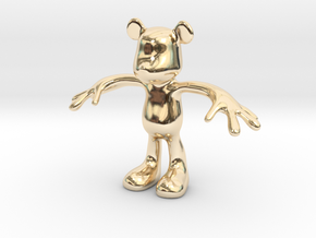 MOUSE KITOY in 14k Gold Plated Brass