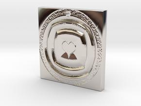 Hearts Echo in Rhodium Plated Brass