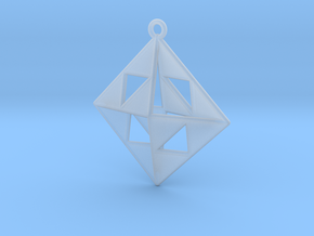 OCTAHEDRON Earring / Pendant Nº1 in Smooth Fine Detail Plastic