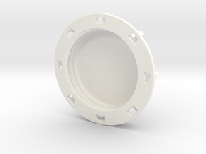 """1.5"""" shallow Cap in White Strong & Flexible Polished"""