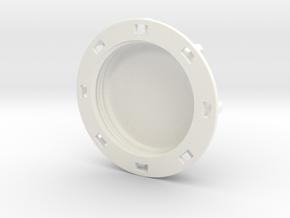 """1.5"""" shallow Cap in White Processed Versatile Plastic"""
