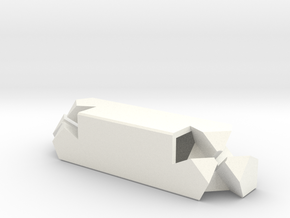 3-way Joint (Kawai Tsugite) in White Processed Versatile Plastic