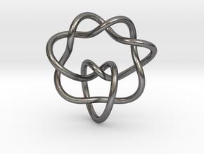 0355 Hyperbolic Knot K6.20 in Polished Nickel Steel