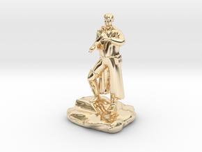 Half Elf Rogue Charlatan in 14k Gold Plated Brass