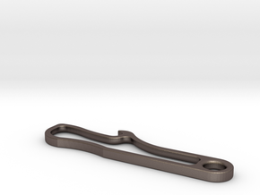 Bottle Opener in Polished Bronzed Silver Steel