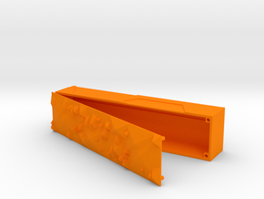 Pencilcase open in Orange Strong & Flexible Polished
