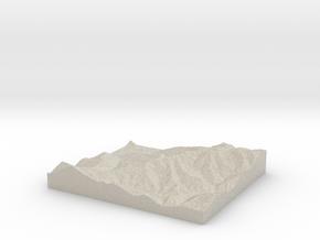 Model of Montecampione in Natural Sandstone
