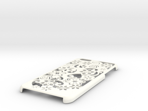 Iphone 6 Plus Case Flower in White Strong & Flexible Polished