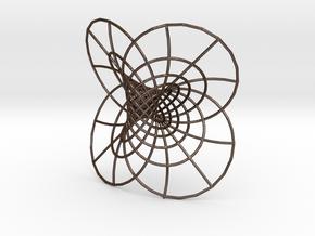 Hopf Fibration, 12.7 cm in Polished Bronze Steel