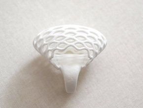 Globe Ring (US size 6.5) in White Strong & Flexible Polished