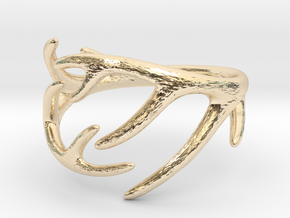 Antler Ring No.2(Size 8) in 14k Gold Plated